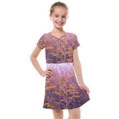 Pink Goldenrod Kids  Cross Web Dress by okhismakingart
