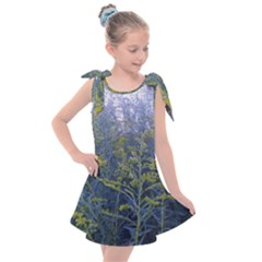 Blue Goldenrod Kids  Tie Up Tunic Dress by okhismakingart