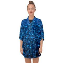 Blue Queen Anne s Lace Hillside Half Sleeve Chiffon Kimono by okhismakingart