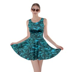 Blue Green Queen Annes Lace Hillside Skater Dress