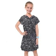 Black And White Queen Anne s Lace Hillside Kids  Drop Waist Dress by okhismakingart