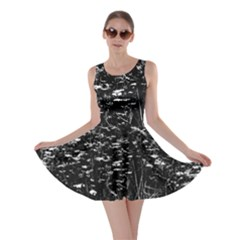High Contrast Black And White Queen Anne s Lace Hillside Skater Dress by okhismakingart