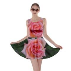 Pink Angular Rose Skater Dress