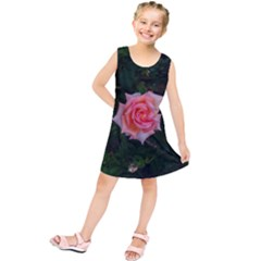 Pink Angular Rose Kids  Tunic Dress by okhismakingart