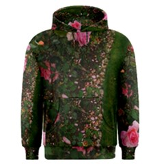 Pink Rose Field (sideways) Men s Pullover Hoodie