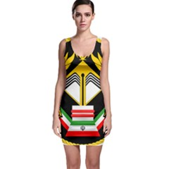 Iranian Army Badge Of Bachelor s Degree Degree Conscript Bodycon Dress