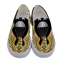 Iranian Army Freefall Parachutist 1st Class Badge Women s Canvas Slip Ons