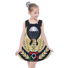Iranian Army Parachutist Freefall Master 2nd Class Badge Kids  Summer Dress by abbeyz71