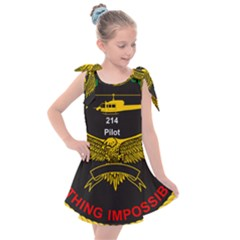 Iranian Army Aviation Bell 214 Helicopter Pilot Chest Badge Kids  Tie Up Tunic Dress by abbeyz71