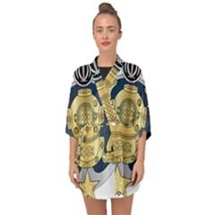 Iranian Navy Special Diver Third Class Badge Half Sleeve Chiffon Kimono
