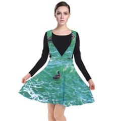 Waterbird  Plunge Pinafore Dress by okhismakingart