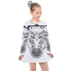 Owl Kids  Long Sleeve Dress by Sudhe