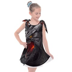 Dragon City Kids  Tie Up Tunic Dress by Sudhe