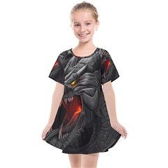 Dragon City Kids  Smock Dress by Sudhe