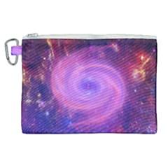 Spiral Strudel Galaxy Eddy Fractal Canvas Cosmetic Bag (xl)