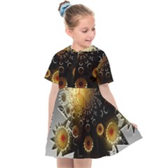 Star Mystical Fantasy Kids  Sailor Dress by Pakrebo