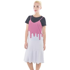 Ice Cream Pink Melting Background Camis Fishtail Dress by genx