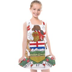 Coat Of Arms Of Alberta Kids  Cross Back Dress by abbeyz71