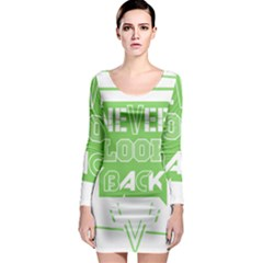 Never Look Back Long Sleeve Bodycon Dress by Melcu