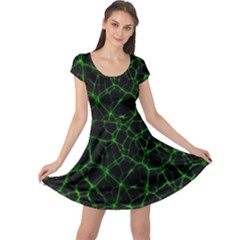 System Web Network Connection Cap Sleeve Dress by Pakrebo
