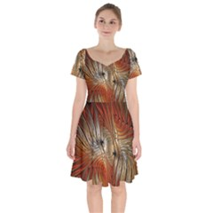 Pattern Background Swinging Design Short Sleeve Bardot Dress by Pakrebo