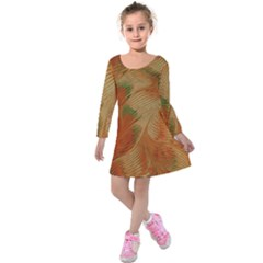 Mottle Color Movement Colorful Kids  Long Sleeve Velvet Dress by Pakrebo