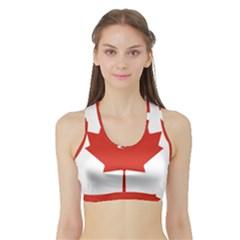 National Flag Of Canada Sports Bra With Border by abbeyz71