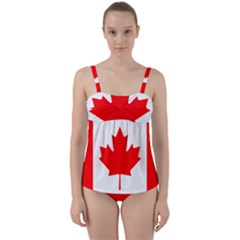 National Flag Of Canada Twist Front Tankini Set