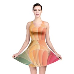 Modern Colorful Abstract Art Reversible Skater Dress