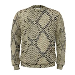 Snakeskin Pattern Lt Brown Men s Sweatshirt by retrotoomoderndesigns