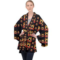 Sweets And  Candy As Decorative Velvet Kimono Robe by pepitasart