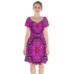 Sweet As Candy Can Be Short Sleeve Bardot Dress