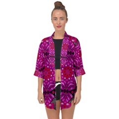 Sweet As Candy Can Be Open Front Chiffon Kimono by pepitasart