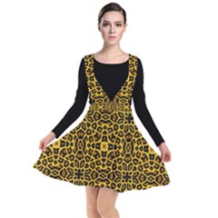 Leopard Stylise Plunge Pinafore Dress by ArtworkByPatrick