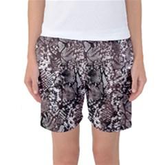 Luxury Snake Print Women s Basketball Shorts by tarastyle