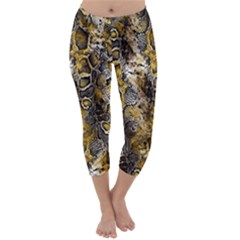 Luxury Snake Print Capri Winter Leggings  by tarastyle