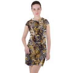 Luxury Snake Print Drawstring Hooded Dress by tarastyle