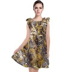 Luxury Snake Print Tie Up Tunic Dress by tarastyle