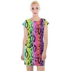 Luxury Snake Print Cap Sleeve Bodycon Dress by tarastyle