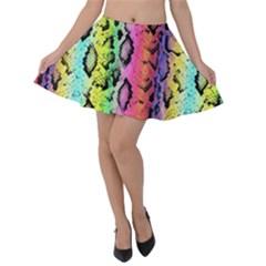 Luxury Snake Print Velvet Skater Skirt by tarastyle