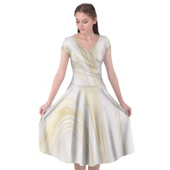 Luxury Gold Marble Cap Sleeve Wrap Front Dress by tarastyle