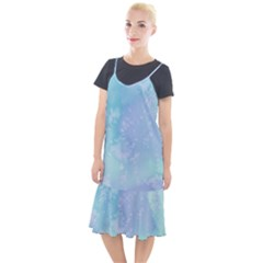 Pastel Salty Watercolor Texture Camis Fishtail Dress by tarastyle