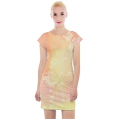 Pastel Salty Watercolor Texture Cap Sleeve Bodycon Dress by tarastyle