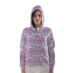 Seamless Pattern Background Women s Hooded Windbreaker