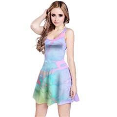 Iridescent Marble Reversible Sleeveless Dress