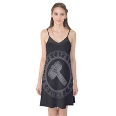 Thor Hammer With Runes Valhalla Tristella Viking Norse Mythology Mjolnir  Camis Nightgown by snek