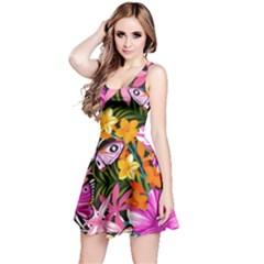 Fancy Tropical Pattern Reversible Sleeveless Dress by tarastyle