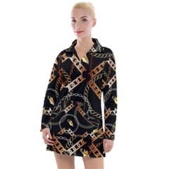 Luxury Chains And Belts Pattern Women s Hoodie Dress by tarastyle