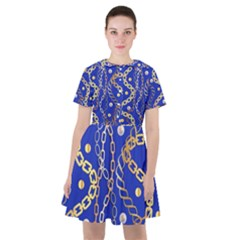 Luxury Chains And Belts Pattern Sailor Dress by tarastyle