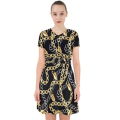 Luxury Chains And Belts Pattern Adorable In Chiffon Dress by tarastyle